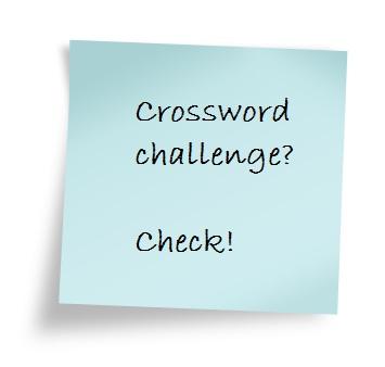 Post It - crossword challenge