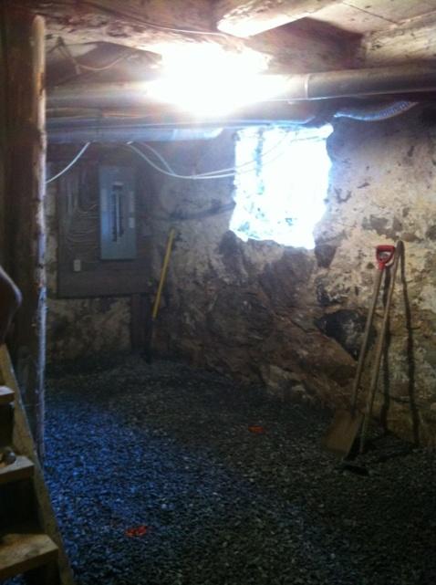 The basement as the renos began