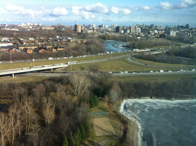 View of Ottawa/Gatineau from the 26th floor.
