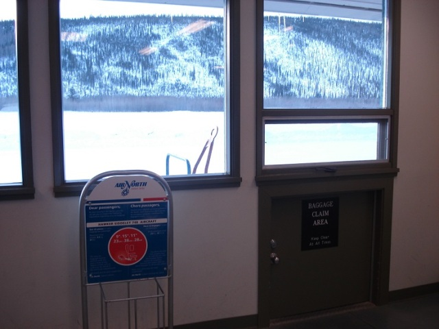 The Baggage Claim Area at the Dawson City Airport