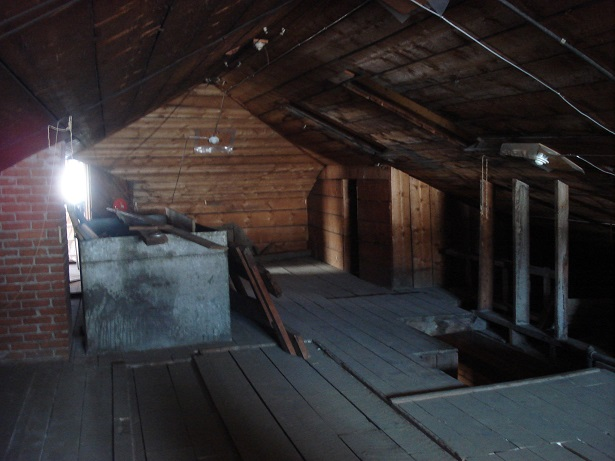 Part of the attic of the Post Office.